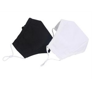 Washable Cotton 3 Layer Face Mask with pocket for filter
